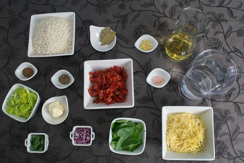Ingredientes Risoto de Tomate Seco