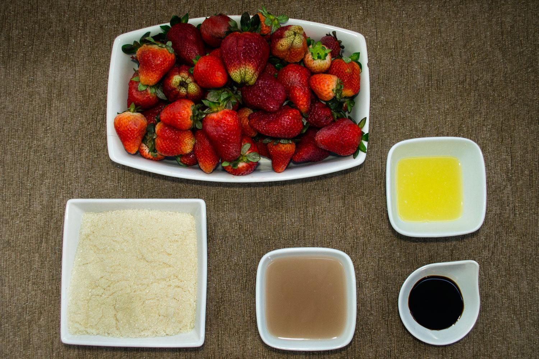 Ingredientes Geleia de Morangos