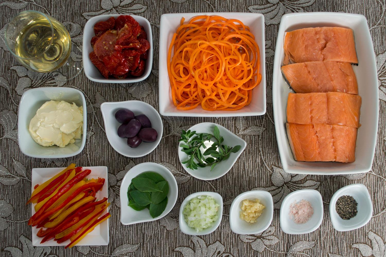 Ingredientes Salmão ao molho de tomate seco