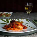 Salmão ao molho de tomate seco