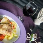 Bacalhau ao Forno com Abobrinha e Tomate
