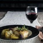 Bacalhau com Batata Doce Sauté