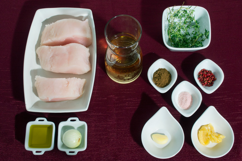 Ingredientes Pirarucu na infusão de Garam Masala