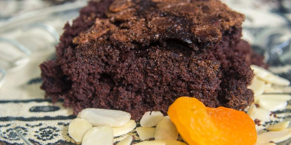 Brownie de Chocolate com Damascos