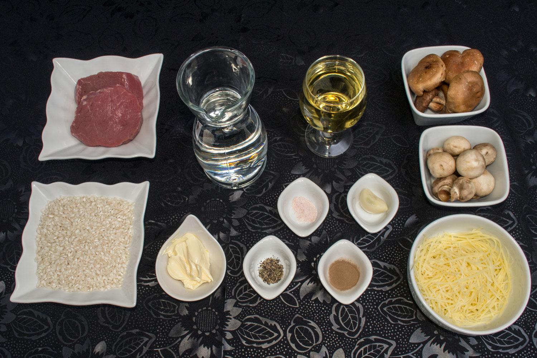 Ingredientes Risoto de Cogumelos